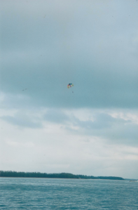 Parasailing in a rain cloud!